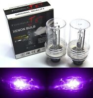 HID Xenon D4R Two Bulbs Head Light 12000K Purple Replacement Low Beam Plug Play