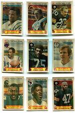 1980 Stop N Go Partial 3-D NFL Football Set 39/48 Bob Griese Joe Greene +More
