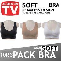 S M L XL XXL XXXL Seamless Sport Bra Crop Top Vest Comfort Stretch Bra Shapewear