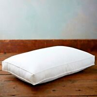 Luxury Duck Feather Box Pillow 100% Cotton Cover Extra Filled Pillows 10cm Wall
