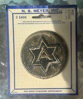 NOS Vintage 1966 N.S. Meyer, Inc. U.S. Army Patch, Pair