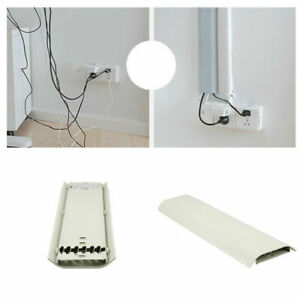 Safe Wall Cable Cover Flat Screen TV Cord Wire Tidy Cover Organizer Fix Holder