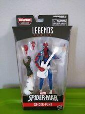 """Marvel Legends Series BAF 6""""~~~Spider-Man Spider Punk Action Figure~~~NIB"""