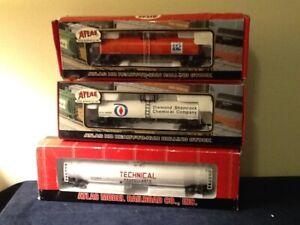 3 Atlas Model Railroad Co. 17,300 Gallon 1557-1&2 + 33,000 1725-3 Gal TANK CARS