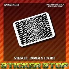 SNAKE SKIN MYLAR STENCIL (Airbrush, Craft, Texture, Pattern, Re-usable)