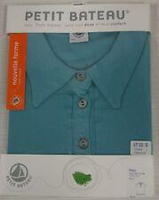 PETIT BATEAU Women's Turquoise Polo 71560 Sz 12 Years XS $67