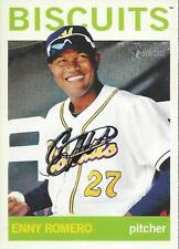 Enny Romero Tampa Bay Rays 2013 Topps Heritage Signed Card #2