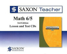 Saxon Math 65 Homeschool Teacher Lesson & Test Cds 6/5 New!