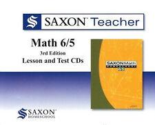 Saxon Math 65 Homeschool Teacher Lesson & Test CDs 6/5