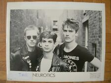 TIRAGE PHOTO ARGENTIQUE PROMO : THE NEWTOWN NEUROTICS – ENGLISH PUNK ROCK 80'S