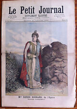 """Le petit Journal 21/01/1893; Mme Renee Richard de l'Opéra dans """"Sapho"""""""