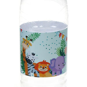 6pcs Safari Animal Water Bottle Label Bottle Wrappers Kids Birthday Party Dy1