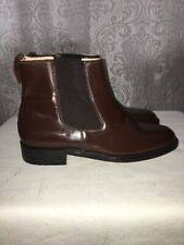 SAMUEL WINDSOR DARK BROWN CHELSEA BOOTS SIZE UK 7