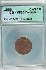 1863 ICG VF30 DETAILS FLUD#32/275 Damaged CWT 1C!! #A1250