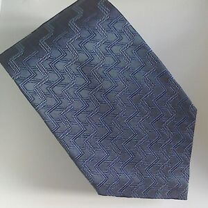 VINTAGE JAEGER 100% SILK TIE .. NAVY BLUE .. New & Unworn
