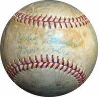 Chief Bender Philadelphia Athletics & Phillies Greats Signed Baseball PSA DNA