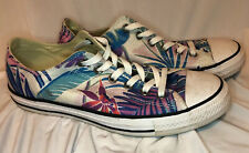 Converse All Star Floral Hawaiian Print Sneakers Shoes Mens Size 8 Women's 10