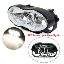 1PC Custom Twin Motorcycle Headlight Fit For Streetfighter Cafe Racer Bobber