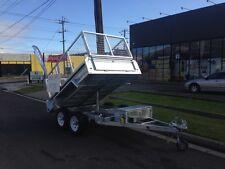 New 8 x 5 Galvanised Hydraulic Tipper 3.5 Tone 3500kg Box Cage Trailer Farm