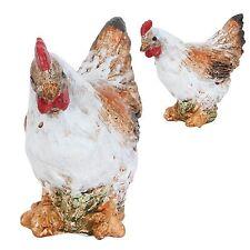 Décoration de Pâques Clayre Eef osterhuhn poule déco céramique shabby 9 4 8 cm