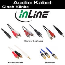 InLine® Cinch/Klinke Audiokabel, div. Anschlüsse und Längen 0.2m-25m Standard Pr