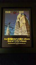 Earthquake 8.5 Rare Original Playboy Records Promo Poster Ad Framed!