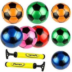 Flyaway Football Plastic 16.5cm 23cm Indoor Outdoor Activity Kid Inflate Ball UK