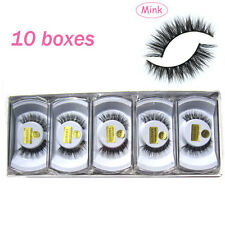10 pairs MY-008 luxurious 100% Mink Hair Natural Cross Winged False eyelashes