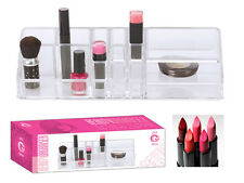 ACRYLIC 14 SLOTS MAKE UP LIPSTICK CADDY ORGANISER TIDY CLEAR COSMETIC GIRLS GIFT