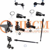 10PC Front Tie Rod End Lower Ball Joint Rear Sway Bar Link For 01-05 Civic El