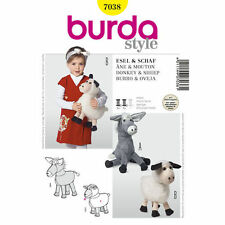 Burda Sewing Pattern Craft 7038 Sheep & Donkey Cuddly Soft Toy