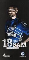Sidney Sam (18) + FC Schalke 04 + Saison 2015/2016 + Autogrammkarte +