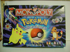 LOT of MONOPOLY GAME - POKEMON Gotta Catch 'em All PARTS / PIECES