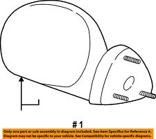 FORD OEM 2004 F-150 Heritage Front Door-Side Rear View Mirror Left 1L3Z17683EAA