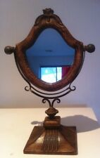 Antique style free standing dressing table makeup mirror