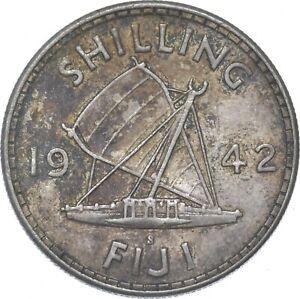 Better - 1942 Fiji 1 Shilling - TC *265