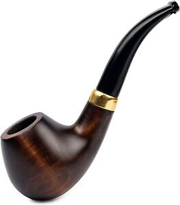 Dr. Watson - Tobacco Smoking Pipe, Classic Bent Apple shape, Fits 9mm Filter