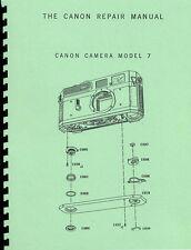 Canon 7 Rangefinder Camera Service & Repair Manual