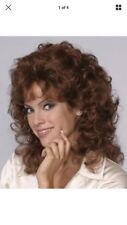 80's Womens Short Medium Length Wavy Curly Wig W/layered Front Sides Lisa