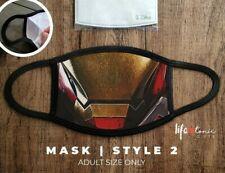 Iron Man Marvel Face Mask 011 | Funny Face Mask | Comic Mask | Double Layer Mask