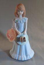 Vintage Enesco Growing Up Birthday Girls Figurine Brunette Age 14 1982 w/Tag
