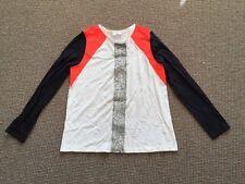 BN Sass Bide Sing Brother White T-shirt Top W/silver Embellish Size M  Rrp$260