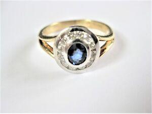 Ring Gold 585 mit Safir und Brillanten, SADEIS, 3,38 g