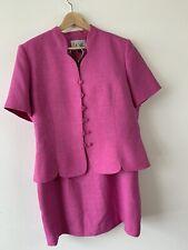 Le Suit women's Pink Skirt Suit Short Sleeves Size 14