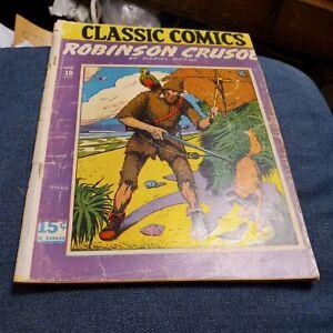 Classics Comics 10 Robinson Crusoe 4th Print HRN 20 1943 Illustrated golden age
