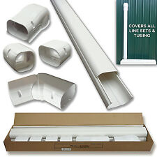"14 Ft 4"" Ductless Mini Split Line Set Cover Kit, Professional Outdoor Cover Kit"