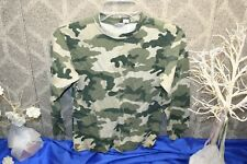 Simply Basic Boys Green Camouflage T-Shirt Size 10-12 hunt sport free shipping