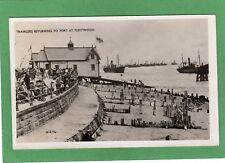 Trawlers Fishing Boats returning to Port Fleetwood RP pc used 1946 Ref L215