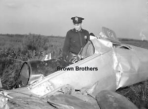 Vintage 1954 Aviation Airplane Crash Elizabeth NJ Film Photo Camera Negatives (9