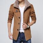 hommes laine Parka polaire veste hiver Unique beasted Trench-coat Manteau